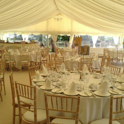 large marquee internal wedding