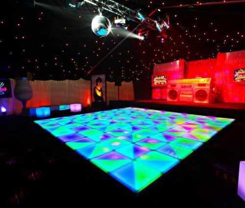 LED changing dance floor